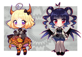 Halloween Adoptables [closed] by Pemiin