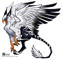 White griffin by Azany