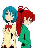 Blue and Red - You and Me. by Harucchan