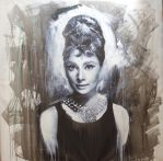 Audrey Hepburn Breakfast at tiffany painting by michaelandrewlaw