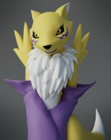 Renamon making progress by Mikiel2171