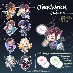 OVERWATCH CHARMS (points accepted) by ToasterKiwi