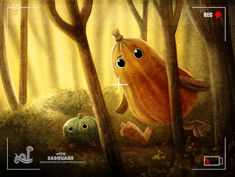 Daily Painting 1715# Sasquash by Cryptid-Creations