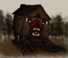 angry house creature by pookyhorse