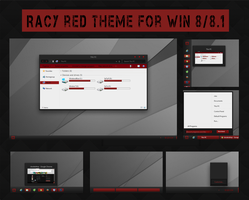 Racy Red Theme for Win 8 /8.1 by Cleodesktop