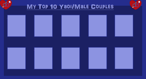 Top 10 Yaoi Couples by MiraculousLover22