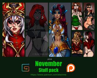 Patreon Stuff pack November 2018 by elwinne