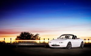 Light painted MX5 sunset by PGDsx