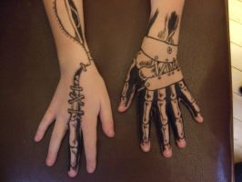 Twin Hands by Panicface