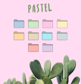 Pastel icon pack by MunaNazzal