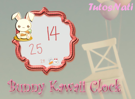 Bunny Kawaii Clock [XWIDGET] by TutosNatiSUB