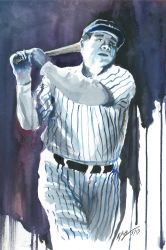 Babe Ruth Painting 2 by Frabulator