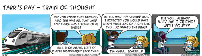 Tarri's Day - Train of Thought by TarriPup