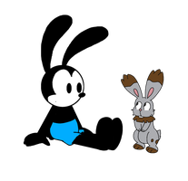 Oswald with Bunnelby