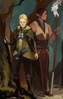 Cian and Elrian Lavellan by HeathWind