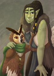 Errek and Sadie Painting (DnD) by Syndrops