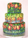 stained glass cake by ilexiapsu