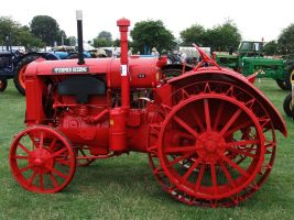 Bright Red Tractor 2 by fuguestock