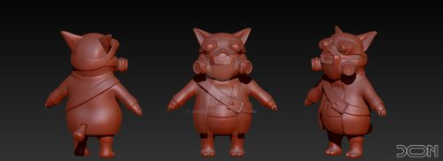 Mister P.I.G. WIP by akosidon