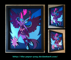 11X14 Midnight Sparkle Shadowbox by The-Paper-Pony