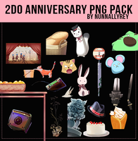 2do Anniversary Pack PNG by Nunnallyrey