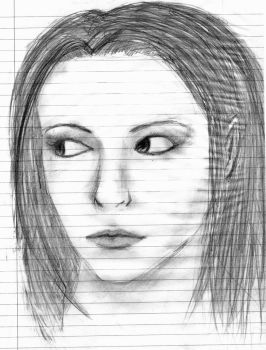 Pencil Sketch with Shifty Eyes by Ishouldbedoingwork17