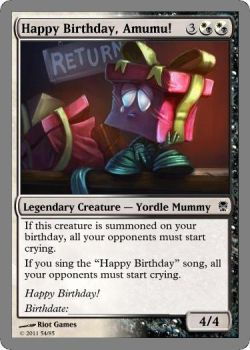 Custom magic the gathering cards by leagueofdevack on deviantart custom magic the gathering cards happy birthday amumu by leagueofdevack bookmarktalkfo Image collections