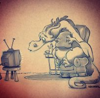 T'varix the binge watcher by BrianKesinger