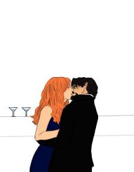Tony and Pepper Kiss by IcedCoffeeVII