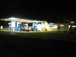 Nightly Gas Station by Rylius