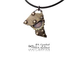 Drum Cymbal Necklace #108 by jphiijewelry