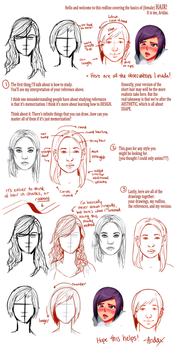 Redline: How to Draw Hair by Aridax