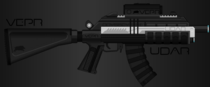 Vepr Industries - Railgun Assault Rifle 'Udar' by prokhorvlg