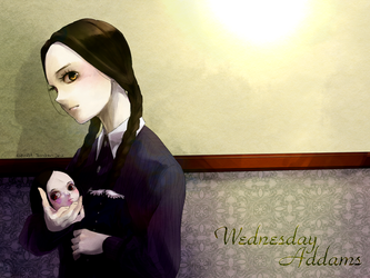 Wednesday Addams by replicated-marchen