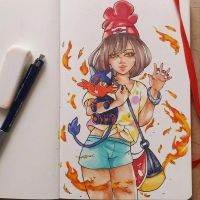 pokemon trainer sun and moon by RenaK-chan