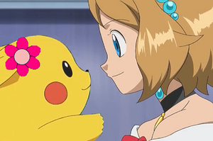 Pokemon Quest: Serena Encourages Her Pikachu by WillDynamo55