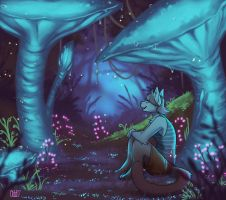 [commission] Glowing Forest by oddthesungod