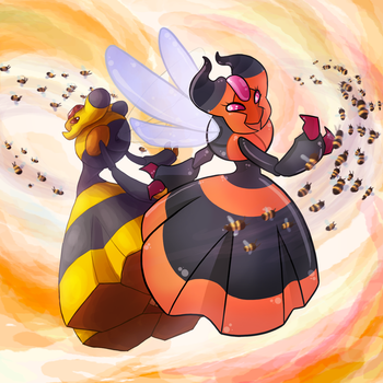 Commanding bees while holding ur wife's hand by Krisantyne