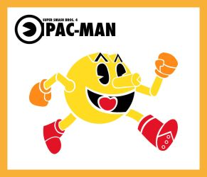 Smash Vectors: Pac-Man (color) by TriforceJ