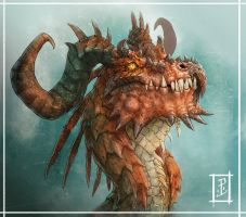 End of the week dragon. by LyntonLevengood