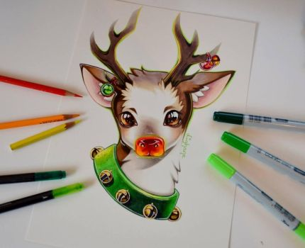 The Red Nose Reindeer by Lighane