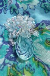Iridescent Ice Necklace Detail by Valley-of-Egeria