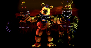 C4D|Wallpaper|Nightmare Fredbear by YinyangGio1987