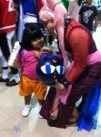 Cosplay: Black Lady with Dora by bloodyblue