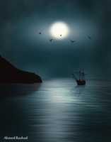 moon sail by Ahmed-Rashad-Art