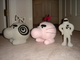 Earthbound plushies + tutorial by Eyes5