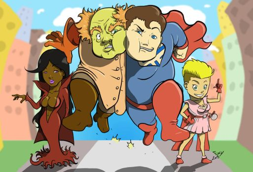 Super Heroes by Exejas