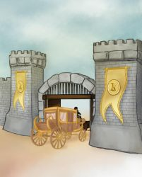 The Gate to Kelkroth's Castle by azza-chaouch