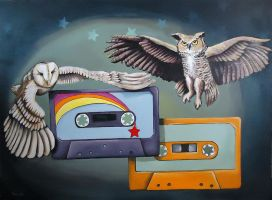 Mixtape Series Owls by TrampLamps