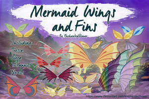 Mermaid Wings and Fins by Enchantedflower